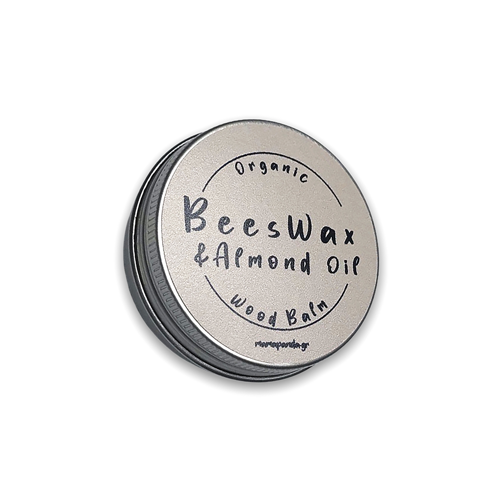 Wood balm with Organic wax and Almond oil 30gr