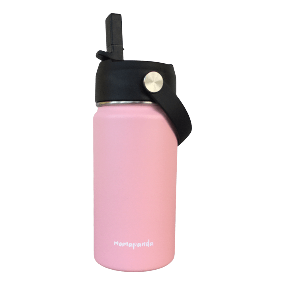 Stainless steel thermos with double wall and nozzle with straw Candy Pink 350ml