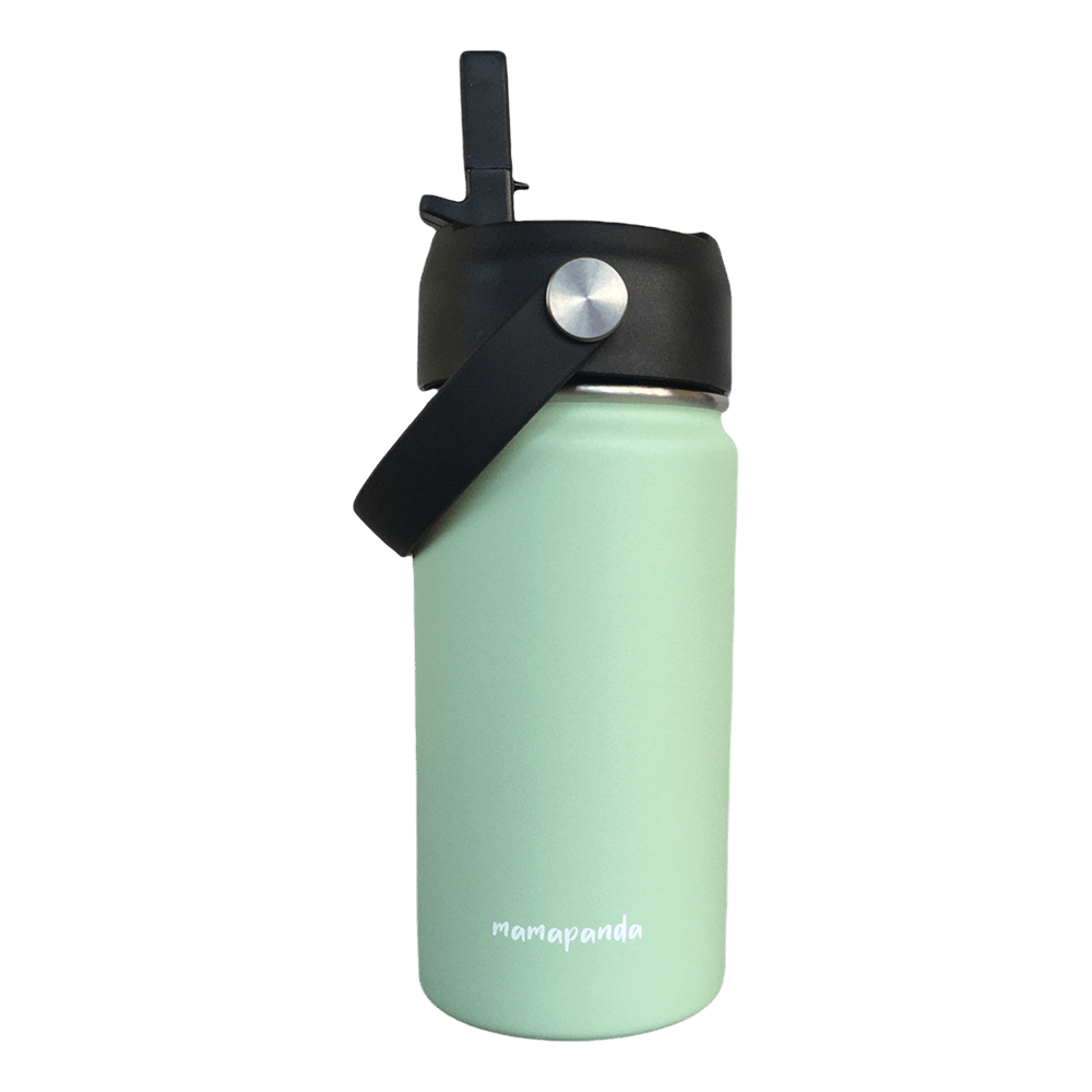 Stainless steel thermos with double wall and nozzle with straw Mint 350ml